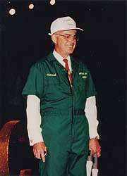 Howard Putnam in Luggage Coveralls